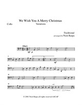 We Wish You A Merry Christmas for string orchestra – Cello part