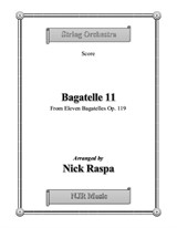 Bagatelle 11 for String Orchestra - Score