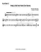 Angels We Have Heard Can Swing - Alto Sax 2 part