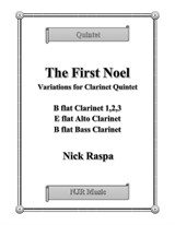 The First Noel (Variations for Clarinet Quintet) – Score and parts