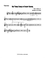 We Three Kings of Orient Swing (easy sax quartet) – Tenor Sax part