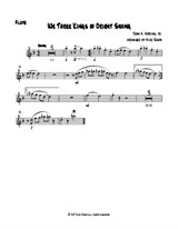 We Three Kings of Orient Swing (easy woodwind quartet) - Flute part
