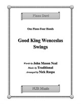 Good King Wenceslas Swings (1 piano 4 hands) early intermediate