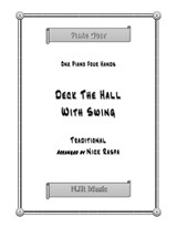 Deck The Hall With Swing (1 piano 4 hands) early intermediate