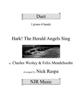 Hark! The Herald Angels Sing - 1 piano 4 hands (advanced)