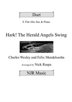 Hark! The Herald Angels Swing (Alto Sax & Piano) adv int